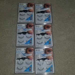 Lot of 6 Ardell deluxe pack eyelash kit